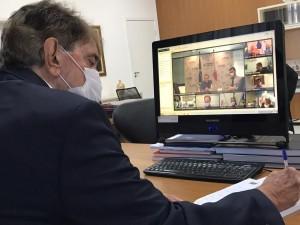Prefeito Aracely participa de videoconferência com Governador