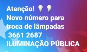 Prefeitura de Araxá disponibiliza novo telefone para solicitar troca de lâmpadas
